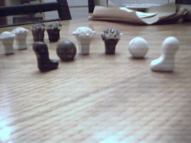 Adomoc Pieces - First Prototypes (Clay) by Joshua Chalifour